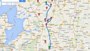 kaart route 1